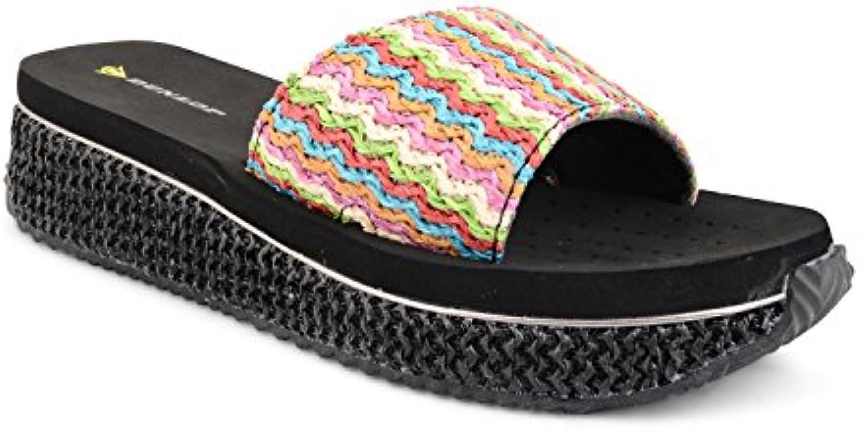 New para mujer Dunlop traje de neopreno para mujer con cierre de cremallera en cojín con forma de cuña Flip Flops...