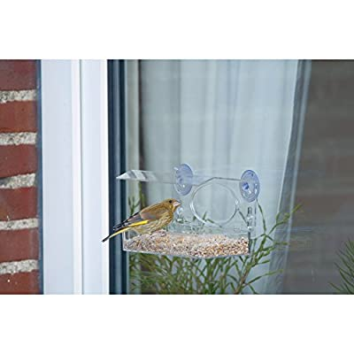 C J Crete Transparent Window Feeding Table from C J Wildbird Foods Limited