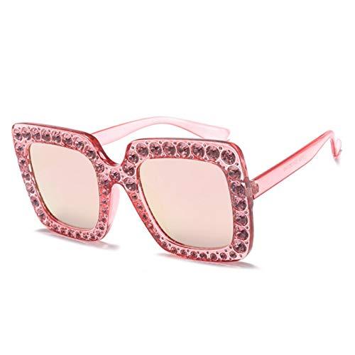 ZHENCHENYZ Sonnenbrille weiblichen klassischen quadratischen großen Rahmen voller Diamanten rundes Gesicht Brille Mode Europa und den Vereinigten Staaten Outdoor-Diamant-Sonnenbrille