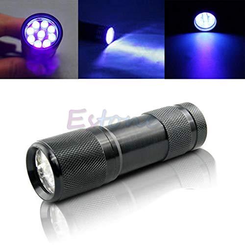 Torcia LED a Lpyfgtp–Mini rilevamento 9LED UV ultravioletti torcia torcia lampada nuovo