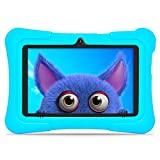 "Dragon Touch Kindertablet, Y88X Pro Kinder Tablet Pad Lerntablet für Kids, 2 GB + 16 GB, Android 9.0 OS, 7"" IPS-Touchscreen, G-Sensor, Kidoz & Google Play vorinstalliert mit blau Schutzhülle (Blau)"