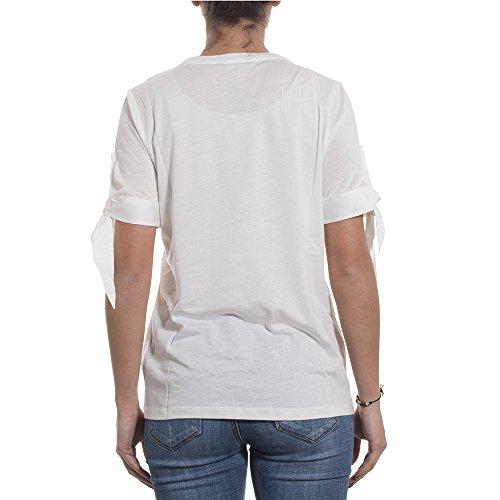 Tommy Hilfiger Kurzarm T-Shirt ABEL Rundhals Zierschleife Ecru 80