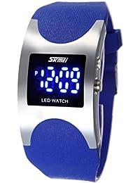 ufengke® mode kreativ bogenförmigen gehäuse geführt wasserdichte gelee armbanduhren,kinder nachtlicht silikonband geschenk handgelenk armbanduhren,blau