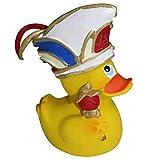 Preis am Stiel Badeente Karnevalsprinz ''Karneval Duck'' | Sammelfigur | Bade Spielzeug | Dekofigur | Geschenk für Kinder | Quietscheente | aufrecht schwimmend | gelbe Badeente