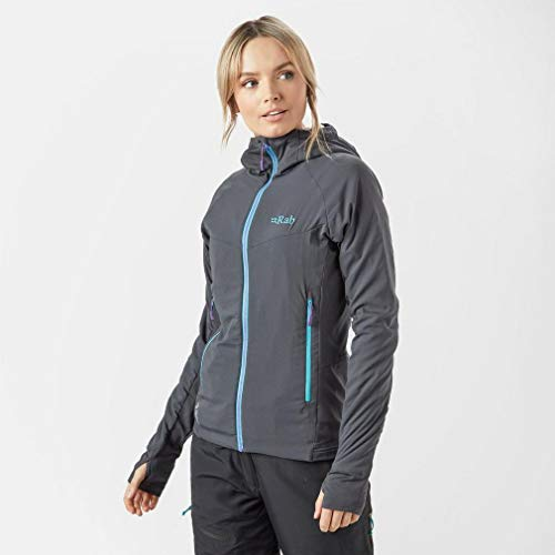 41V5kErN1uL. SS500  - Rab Women's Alpha Flux Jacket Lightweight Breathable Stretch Anti-Odour Long Sleeve Active Wear