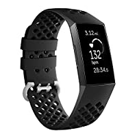 Black Wristband For Fitbit Charge 3 watch Strap Sport Replacement Band Bracelet Watchbands For Fitbit Charge3