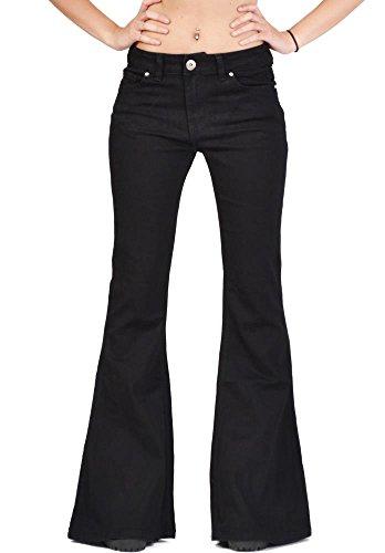 Glamour Outfitters 60er 70er Weite Schlaghose - Schwarz ()