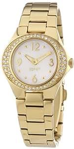 Esprit Damen-Armbanduhr Saturn Gold Analog Quarz Edelstahl ES103982004