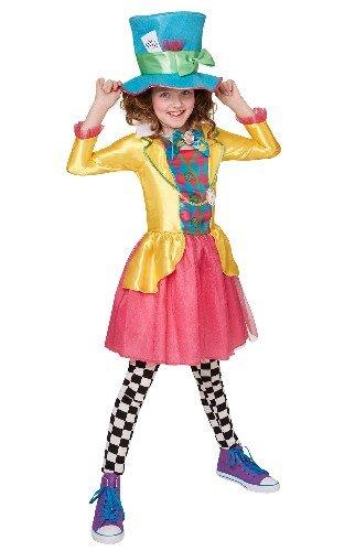 s Mädchen Disney Alice im Wunderland Verrückter Hutmacher Kostüm–Größe L–9–10Jahre (Kinder Schuhe Dorothy)
