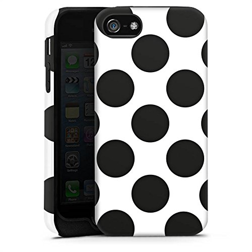 Apple iPhone X Silikon Hülle Case Schutzhülle Punkte Dots Rockabilly Tough Case matt