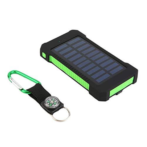Preisvergleich Produktbild Pudincoco 300000mAh Dual USB Portable Solar Ladegerät Solar Power Bank (Farbe: schwarz grün)