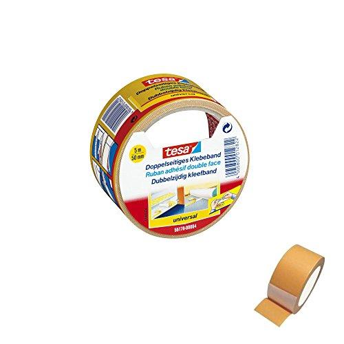 Doppelseitiges Klebeband 36 Rollen tesa 50mm x 5m Verlegeband universal - 01010301