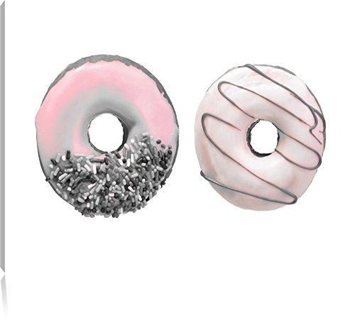 glazed-donuts-noir-blanc-taille-120x80-sur-toile-xxl-enormes-photos-completement-encadrees-avec-civi