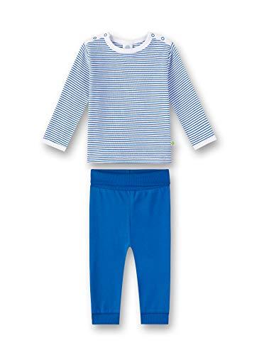 Sanetta Baby-Jungen Pyjama Zweiteiliger Schlafanzug, Blau (River Blue 50047), 86 (Herstellergröße: 086)