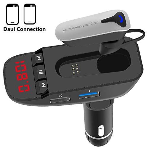 Trasmettitore Bluetooth per auto, Artbest trasmettitore FM V4.2 Bluetooth per autoradio Adattatore radio con porte USB doppie, ingresso/uscita AUX, lettore Mp3 per scheda TF/SD