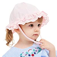 VBWER Infant Kids Baby Girls Lace Bowknot Beach Cap Princess Sunhat Protection Hats Pink