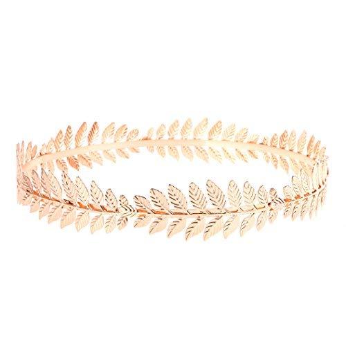 RIVERTREE Griechische Göttin Stirnband Kostüme/Blattgold Haarband Krone/Braut Hochzeit Kopfschmuck (Der Toga Männer)