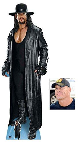 (BundleZ-4-FanZ The Undertaker Long Coat and Hat WWE Wrestler Lebensgrosse und klein Pappfiguren/Stehplatzinhaber/Aufsteller - Enthält 8X10 (25X20Cm) starfoto)