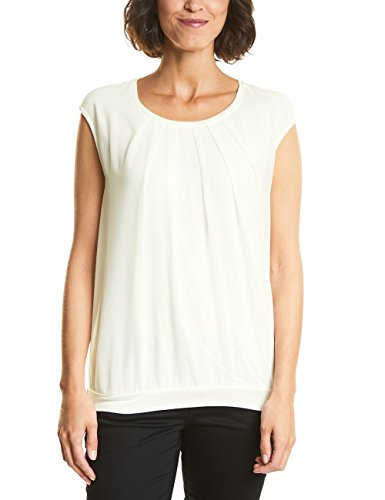 Street One Damen Top 312347, Elfenbein (Off White 10108), 34 (Elfenbein Bluse Top)