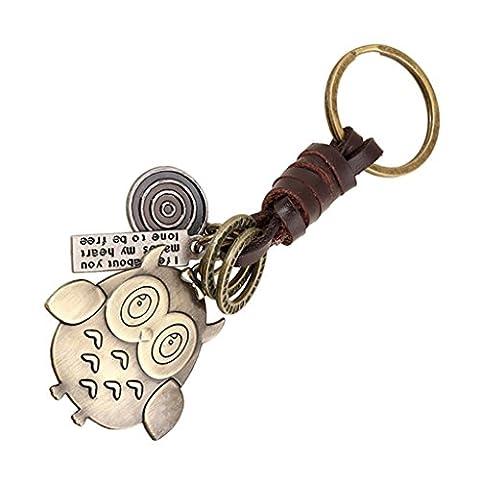 Sucolin Porte-clés Hibou Animaux Porte Clef Vintage Petits Cadeaux aux