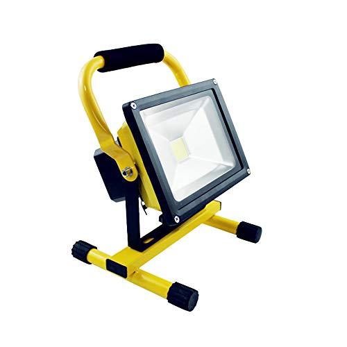 HENGMEI 20W LED Fluter Akku Baustrahler Arbeitsleuchte Strahler Flutlicht Scheinwerfer handlampe für Camping (20W Warmweiß)