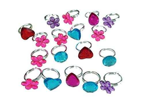 Preisvergleich Produktbild 12x Ringset Juwelen für Kinder, Piratenschatz, Mädchen & Jungen, Kindergeburtstag Schmuck in Blister als Mitgebsel von TK-Gruppe
