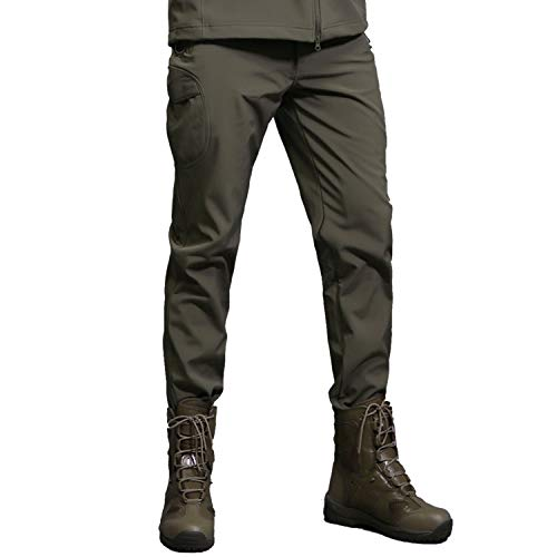 7VSTOHS Pantalones Invierno Soft Shell Fleece Hombre