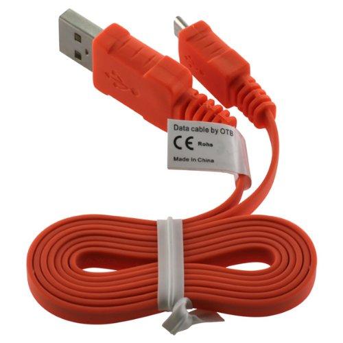 OTB Datenkabel Micro-USB - 0.95m - Flachbandkabel - orange