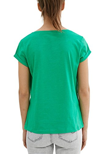 edc by ESPRIT Damen T-Shirt 037cc1k023 Grün (Green 310)