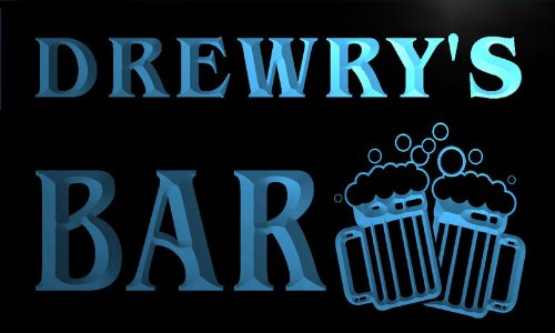 w013498-b-drewry-name-home-bar-pub-beer-mugs-cheers-neon-light-sign