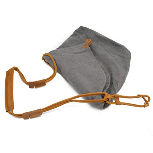 Zhhlaixing Borsa casuale Art Retro Canvas Package College Style Korean Version Shoulder Bag Messenger Bags for Men Women Khaki