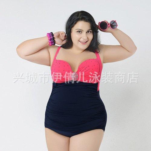 Mme summer maillot de couleur de grande taille de réciter son maillot capture-YU&XIN Red