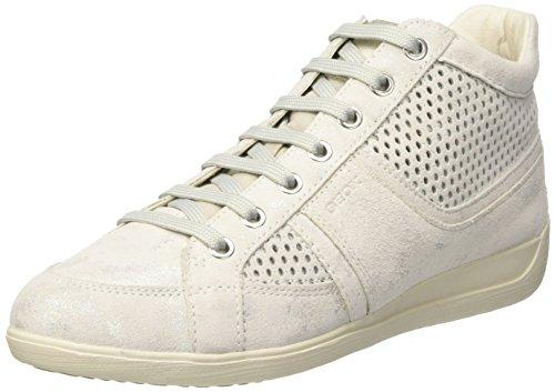 Geox D Myria B, Sneakers Hautes Femme Blanc Cassé (OFF WHITEC1002)