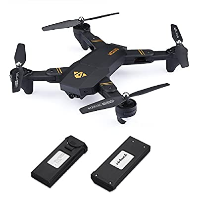 Virhuck Folding Remote Control Quadcopter 720P Camera, 2 Batteries, WiFi FPV Real Time Transmission Altitude Hold Headless Mode One Key Backward RC Drone