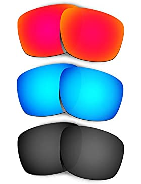 Hkuco Plus Replacement Lenses For Oakley Sliver - 3 pair Combo Pack