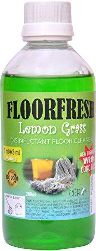 Cero Floor Fresh Concentrate Lemongrass Essential Oil Disinfectant Floor Cleaner - 200 ml
