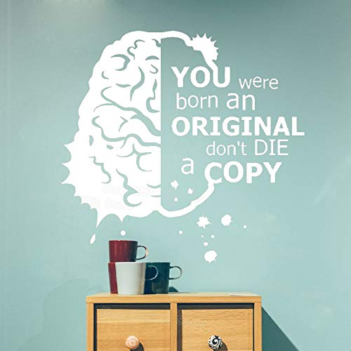 Wissenschaft Zitat Schule Klassenzimmer Vinyl Aufkleber Motivations Geschenk Dekor Kunst Wandtattoo Removable Brain Wandaufkleber Schlafzimmer Rot 44x42 cm