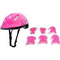 Baoblaze Set de Protection de Patinage Vélo Cyclisme Avec Casque Protecteur + Protège-Poignet + Coudières + Genoulières pour ENFANTS