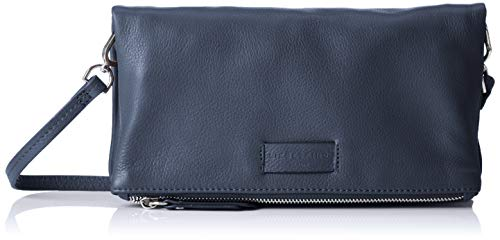 Damen Leder-clutch, Handtaschen (Liebeskind Berlin Damen Essential Aloe Crossbody Small Umhängetasche, Blau (Navy Blue), 3x16x29 cm)
