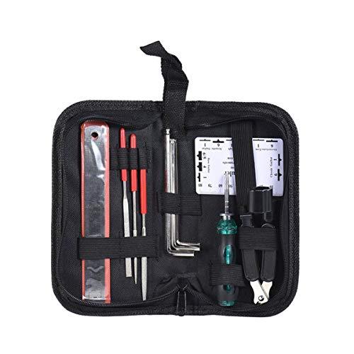 WEIWEITOE Praktisches Gitarrenpflegewerkzeug Handbag Clean Pflegeset Universal Repair Fix Tool Kit für Gitarren, Mehrfarbig gemischt,