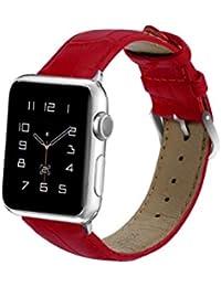 Bestow Apple Watch Series Nueva Pulsera de Repuesto de Cuero Correa Correa de Cuero de cocodrilo