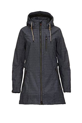 G.I.G.A. DX Damen Matava Casual Soft Shell Parka, Dunkel Denim, 40