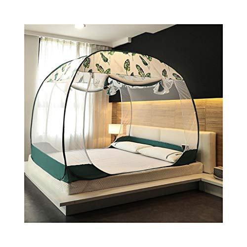 KMDB Moskitonetz mit Bett, faltbares dreitüriges Moskitonetz mit Reißverschluss zur freien Installation (größe : 1.8 mx2m Bed)