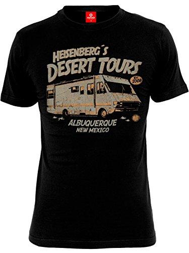 Breaking Bad Heisenberg Desert Tours T-Shirt Schwarz 4XL (Tour-shop)