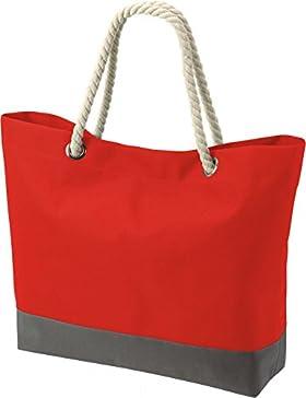 XL Strandtasche Beachtasche Shopper in verschiedenen Farben verfügbar mit Kordel von noTrash2003®