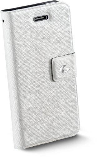 Cellular Line   Kunstleder Klapptasche Buchformat für Apple iPhone 4/4s schwarz weiß