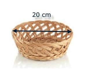 Osier panier pour petits pains brötchenkorb tischkorb büffettkorb ronde - 20 cm