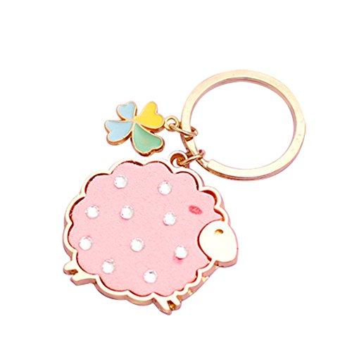 Cupcinu Cute Schlüsselbund Little Sheep Metal Schlüsselanhänger Schlüsselanhänger Hummer-Verschluss mit abnehmbaren Schlüsselanhänger Creative Geschenk Souvenir für Freund, Rosa (Rosa Hummer)