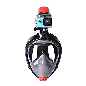 Coomir Tuba Masque panoramique à 180° plongée Anti Brouillard/Fuite de Masques de plongée avec Support Amovible