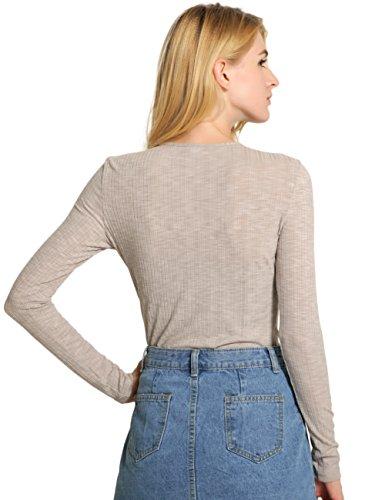 SunIfSnow - Sweat-shirt - Uni - Manches Longues - Femme Gris